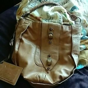 AUTHENTIC BALENCIAGA TAN LEATHER BAG